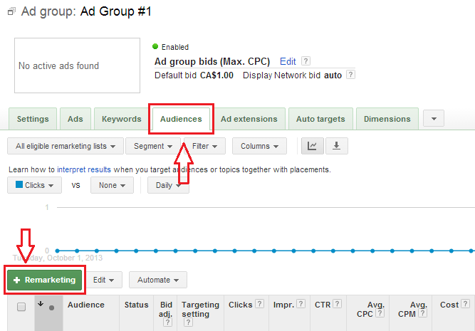 Google Adwords search remarketing