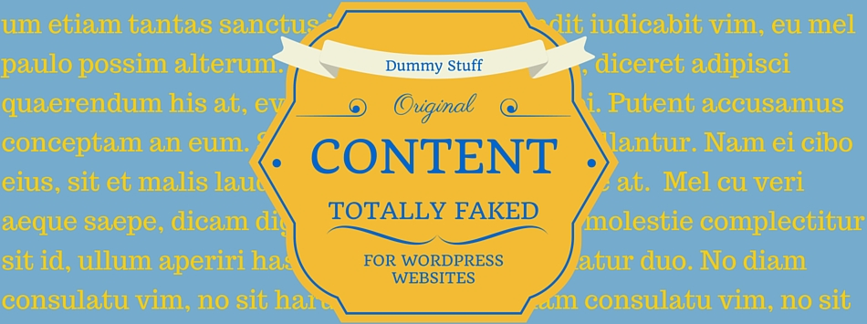 Creating Dummy Content for WordPress Websites