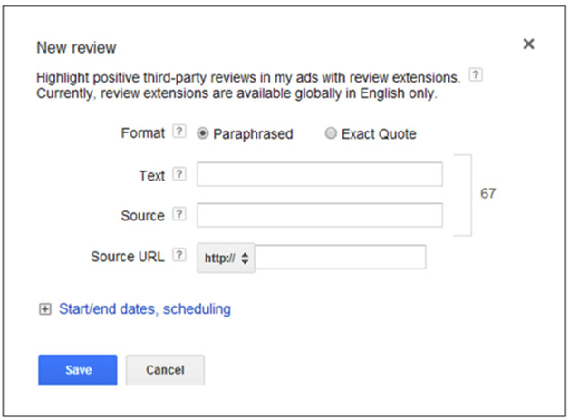 Google review extension setup