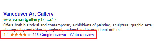 Vancouver Art Gallery Google Review