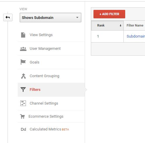 add new filter to the view in Google Analytics