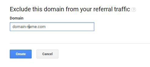 exclude domain from referral traffic in google analytics