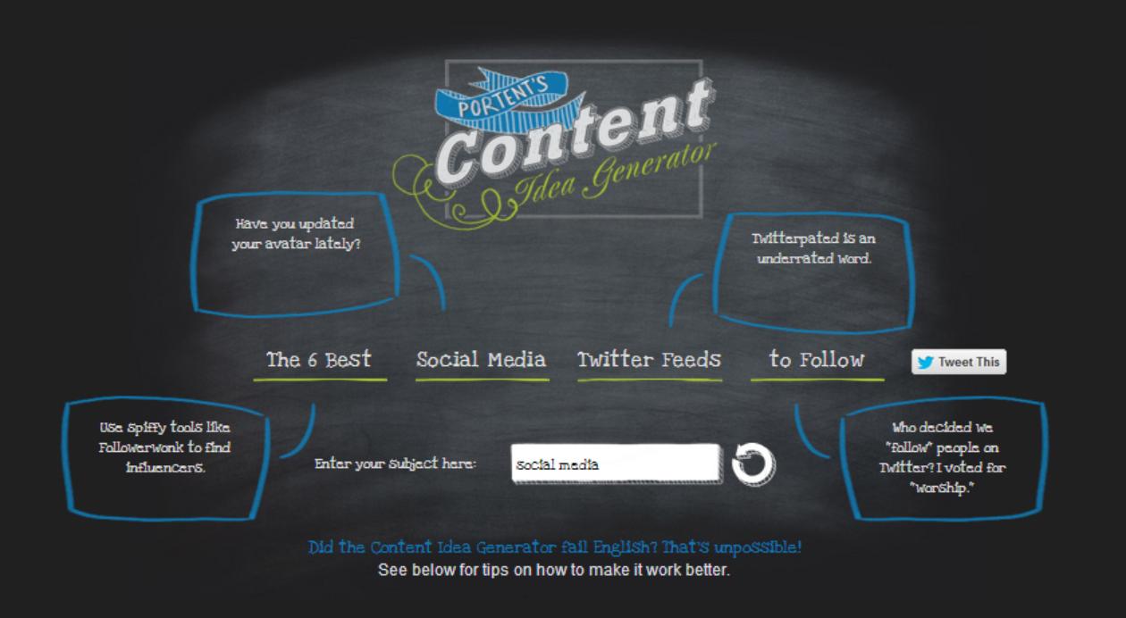4 topic creation tools every digital marketing for Portent headline generator